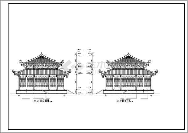 道家仿古建筑大殿建筑施工图-图2