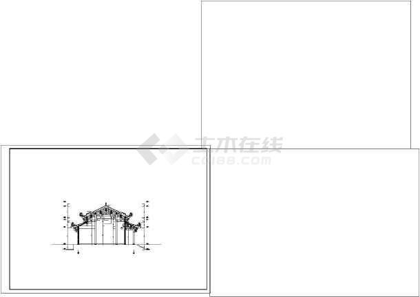 道家仿古建筑大殿建筑施工图-图3