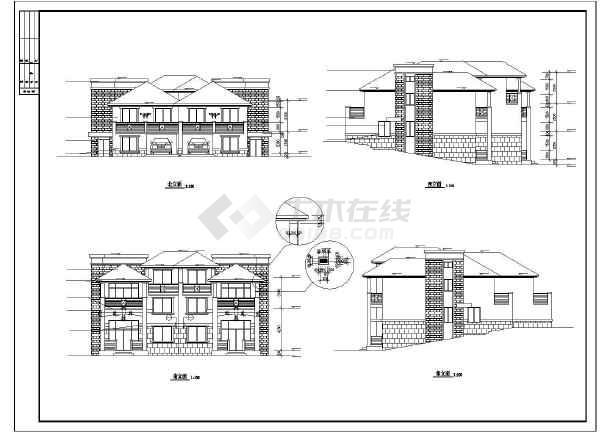 山体别墅道路建筑设计施工图图纸凤阳全套新城区图片