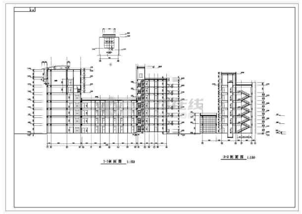 最新整理20套高层办公楼建筑、结构、电气设计CAD施工图-图1