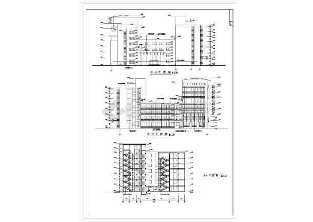 最新整理20套高层办公楼建筑、结构、电气设计CAD施工图-图3