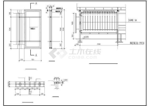 3米高公交候车亭钢结构图纸图纸装修多久图片