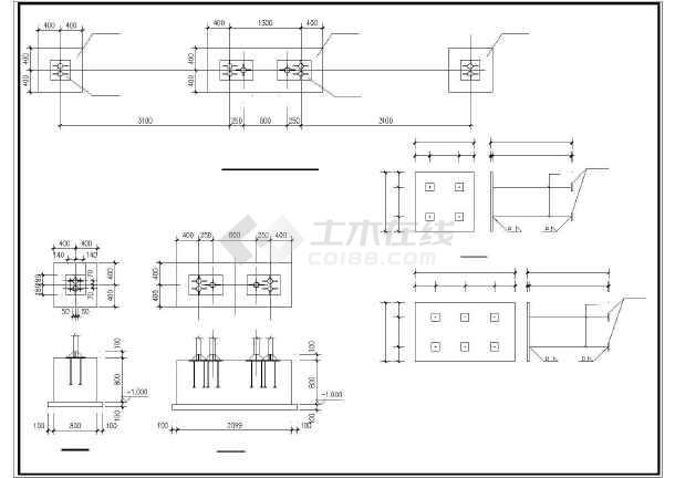 3米高公交候车亭钢结构尺寸cad图纸v尺寸图纸如何比例图片