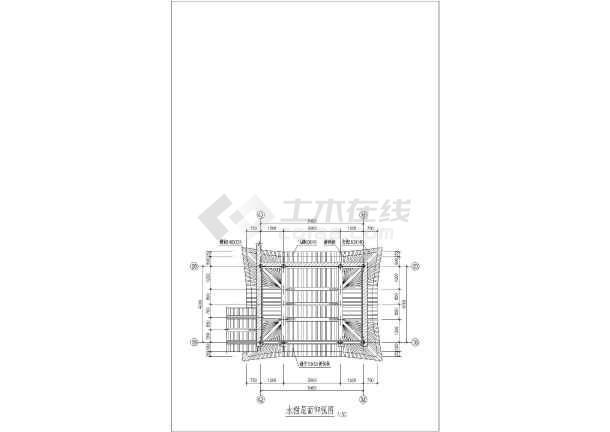 古建筑建筑施设计图-图1