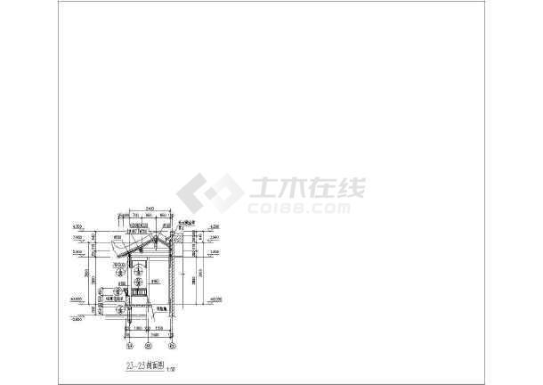 古建筑建筑施设计图-图2