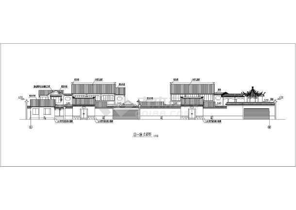 古建筑建筑施设计图-图3