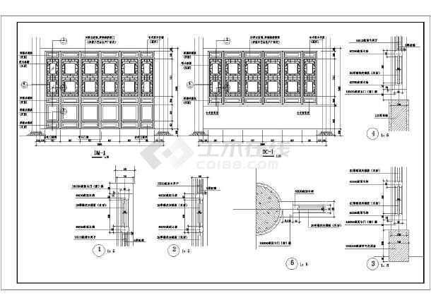 某地仿古代建筑七层塔cad施工设计图-图1