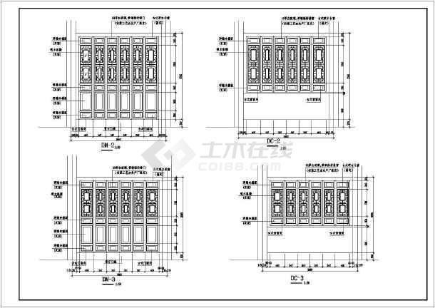 某地仿古代建筑七层塔cad施工设计图-图2