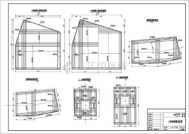 十方法镇墩cad图纸余种接触器表示图纸配筋图片