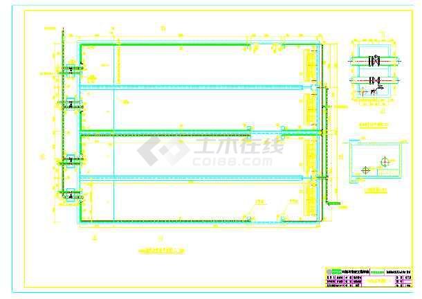全套CASS工艺污水处理厂部分工艺图纸-图2