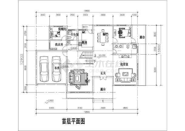 某单家独院式别墅建筑设计图