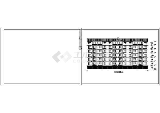 一套单元式多层住宅建筑图施工图