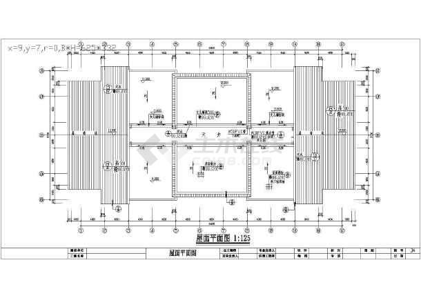 某大市场居住楼建筑施工图(共6张)-图3