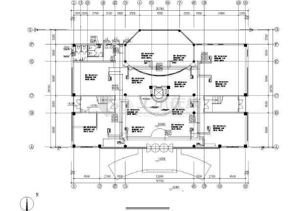小型多层办公楼空调通风系统初步设计图-图2