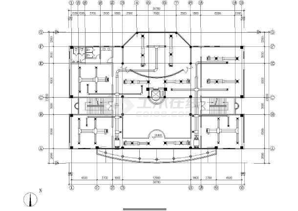小型多层办公楼空调通风系统初步设计图-图3