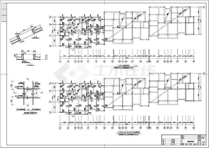 四层砌体结构住宅结构施工图(条形基础6号楼)
