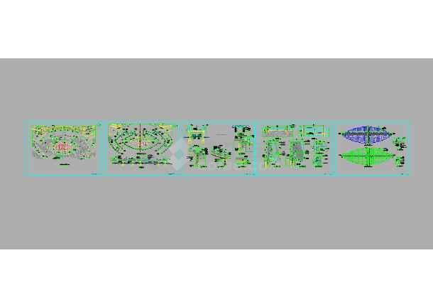 水中舞台园林水景观全套施工图纸-图1