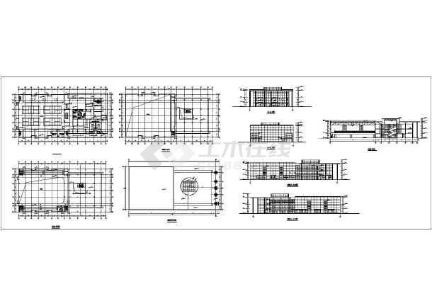 安徽某市区体育馆全套建筑设计CADv全套图纸图纸有人有旋翼机吗图片