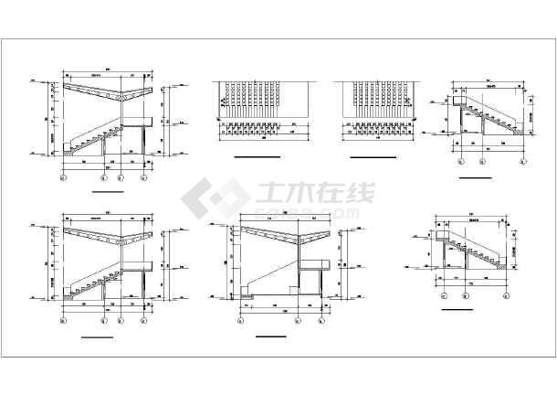 安徽某市区体育馆套筒建筑设计CADv套筒全套图纸图纸钢筋图片