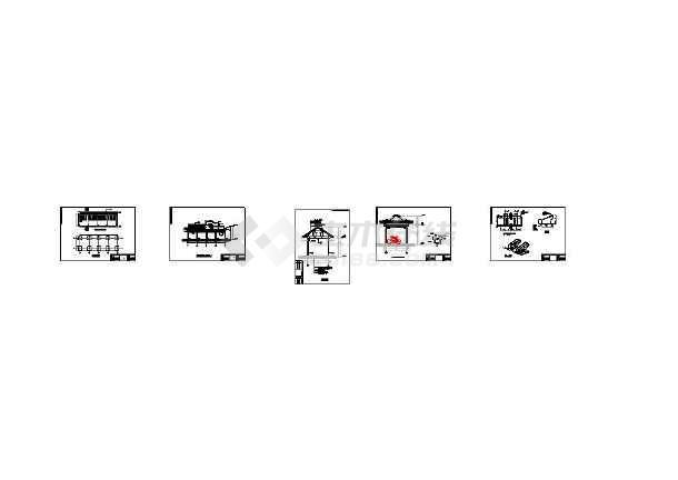 多套 单排 双排 详细自行车棚建筑结构施工图-图1