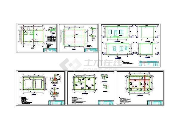 简单的1层砖混结构房子--建筑结构图纸(全套)-图1