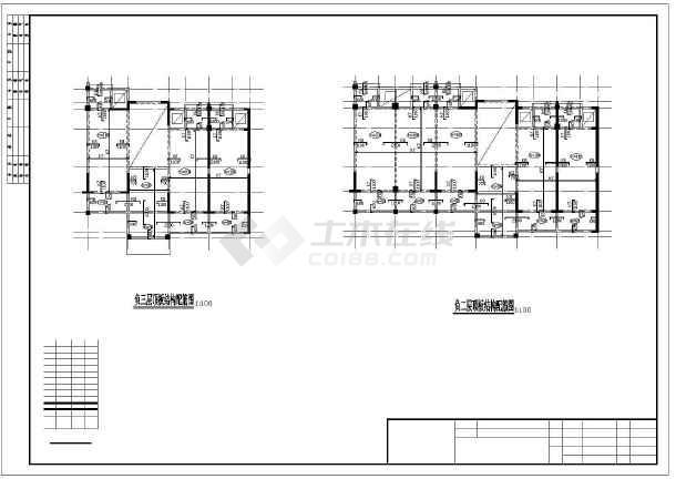 [毕业设计]六层框架学生公寓楼建筑结构施工图(桩基础-图2