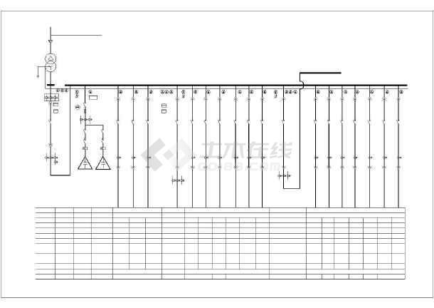 详细高低压配电系统cad方案图纸-图1