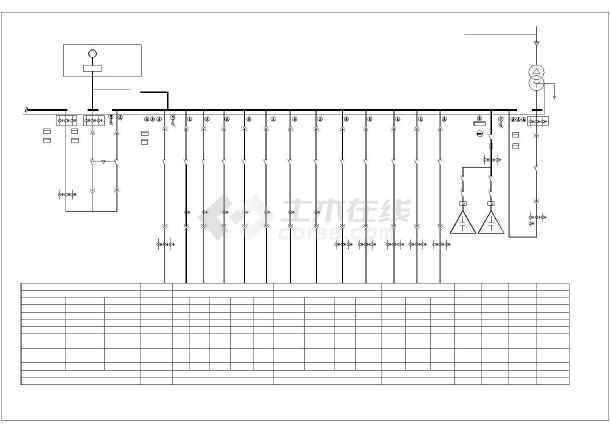 详细高低压配电系统cad方案图纸-图3