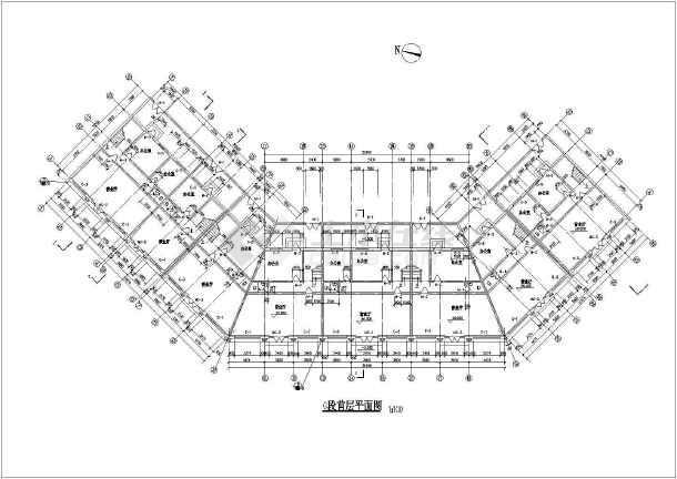 仿古街建筑施工设计CAD图-图3