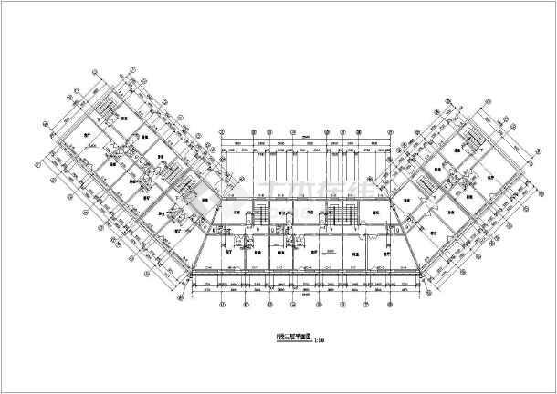 某仿古建筑一条街设计cad建施图-图3