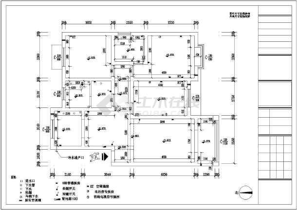 某豪宅精装修室内设计cad施工图-图1