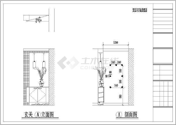 某豪宅精装修室内设计cad施工图-图2