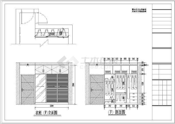 某豪宅精装修室内设计cad施工图-图3