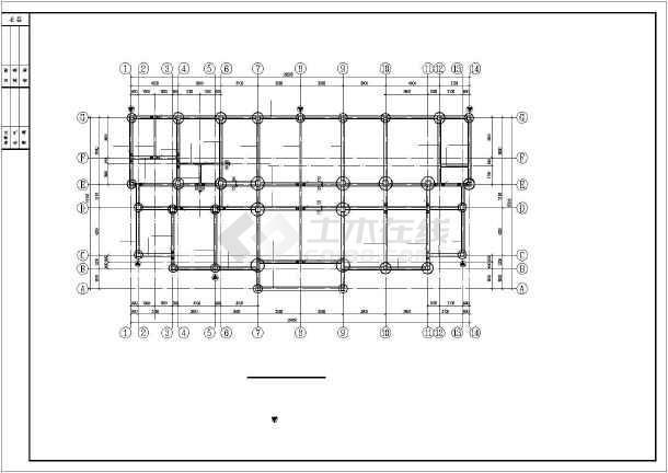 某四层框架桩基础住宅结构平法标注cad施工图