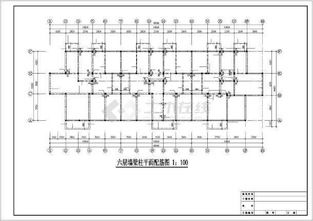 6层底框结构住宅施工图-图1
