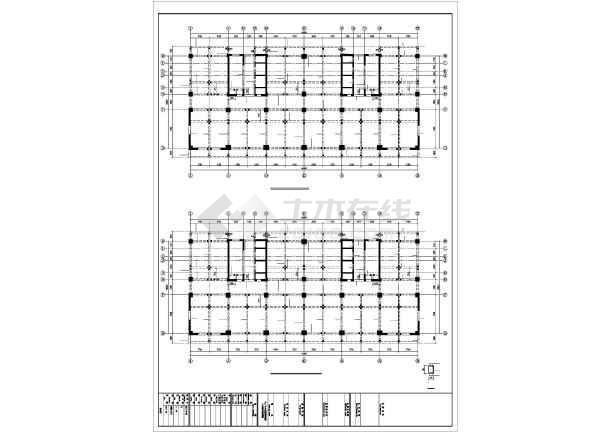 [准格尔]框剪结构住宅结构施工图(18层筏板基础)-图1