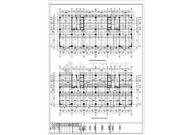 [准格尔]框剪结构住宅结构施工图(18层筏板基础)-图2