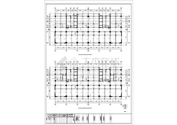 [准格尔]框剪结构住宅结构施工图(18层筏板基础)-图3
