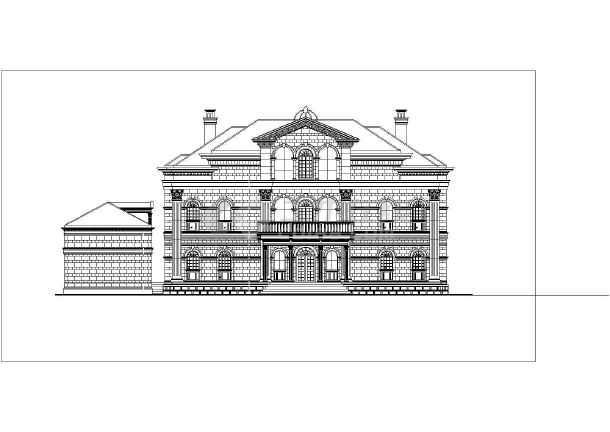 十三款俄式别墅外立面的CAD建筑方案图如何设置cad开机字体图片