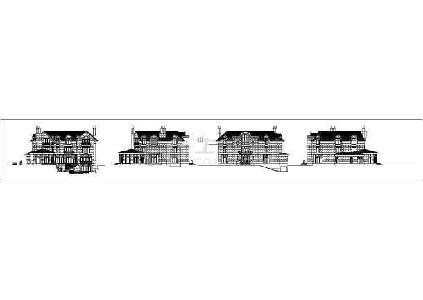 十三款俄式面的外立别墅CAD建筑方案图cdg11da40acad图图片