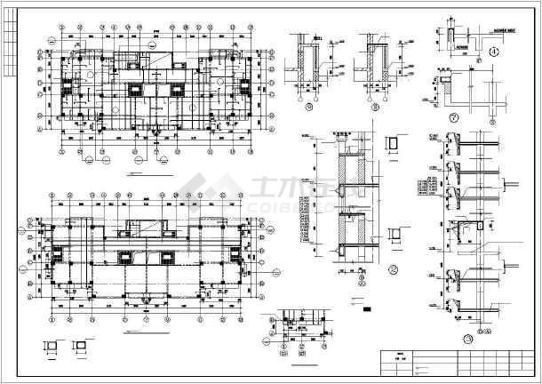 [烟台]框剪结构住宅楼施工图(16层筏板基础)-图1