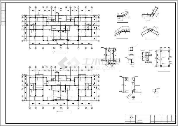 [烟台]框剪结构住宅楼施工图(16层筏板基础)-图2