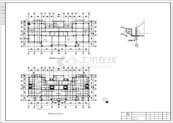 [烟台]框剪结构住宅楼施工图(16层筏板基础)-图3