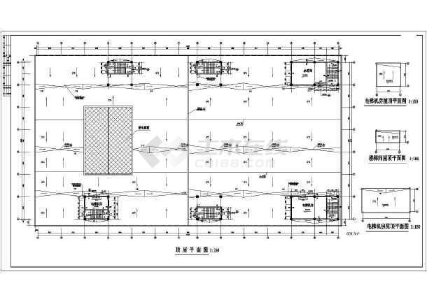某地小型商场平面建筑平面设计图