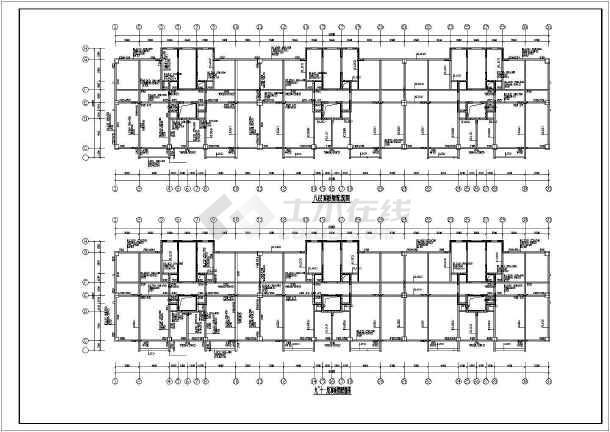 框剪结构住宅楼结构施工图(17层筏板基础)-图1