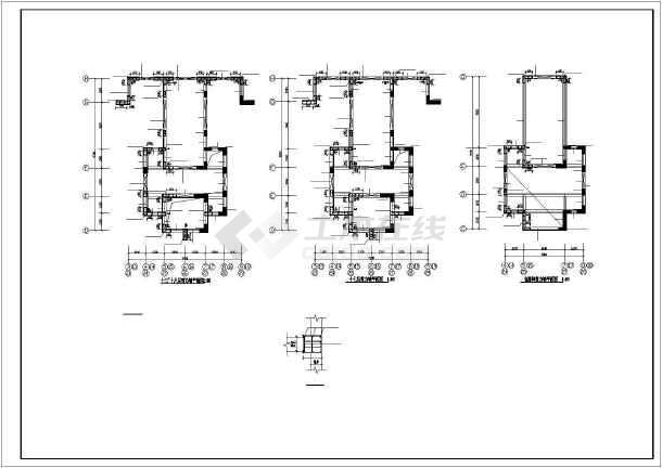 框剪结构住宅楼结构施工图(17层筏板基础)-图2