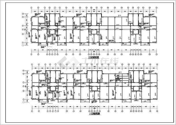 框剪结构住宅楼结构施工图(17层筏板基础)-图3