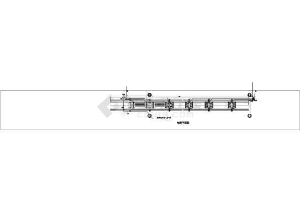 桥电气照明图夜景照明建筑图纸-图1