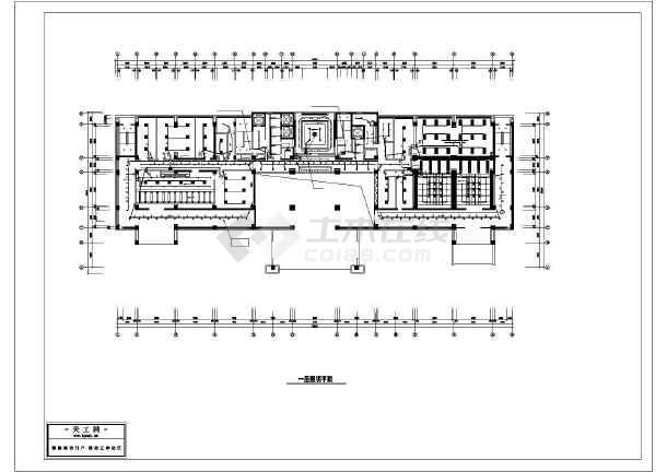 10层某公安局办公楼装修电气cad施工设计图-图3