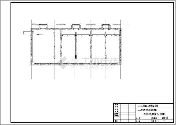 2#钢筋混凝150立方米容积土生化池设计图-图2